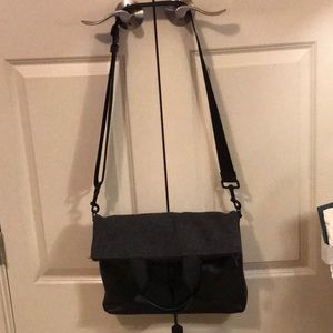 Coach fold over messenger tote